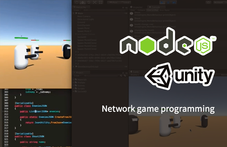 Nodejs 를 이용한 유니티 네트워크 게임 프로그래밍 Part-1. 클라이언트