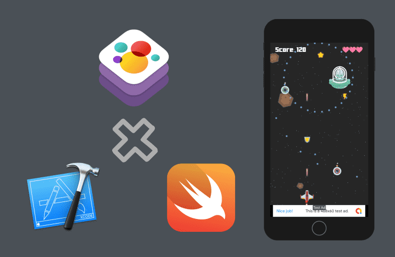 Swift 5와 SpriteKit으로 만들어보는 아이폰 iOS 2D 슈팅게임