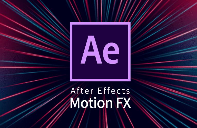 After Effects CC 모션 이펙트의 활용