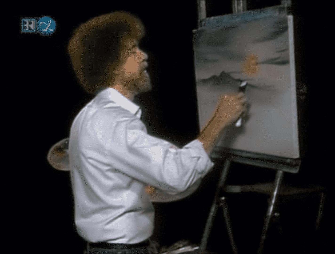 """""""그림을 그립시다"""" 밥 로스 ⓒPBS"""