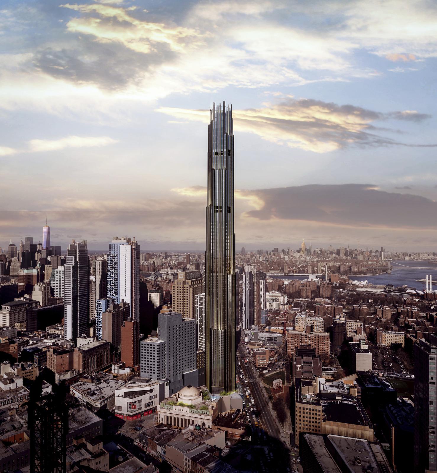 ▲ 9 Dekalb Avenue는 브루클린에서 가장 높은 건축물로, 그 높이가 무려 325m에 달한다고 합니다.  시공 과정에서 유니티의 '유니티 리플렉스' 솔루션이 활용되었어요. ©SHoP Architects