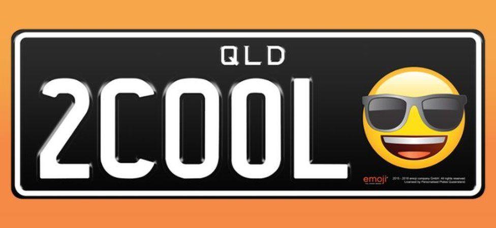 이모지를 사용한 호주 퀸즐랜드 차량 번호판 샘플 ⓒemoji®