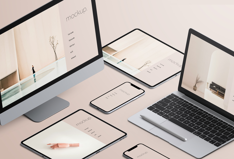 데스크톱 모니터, 랩톱, 태블릿, 핸드폰 등 디바이스마다 해상도가 달라요.