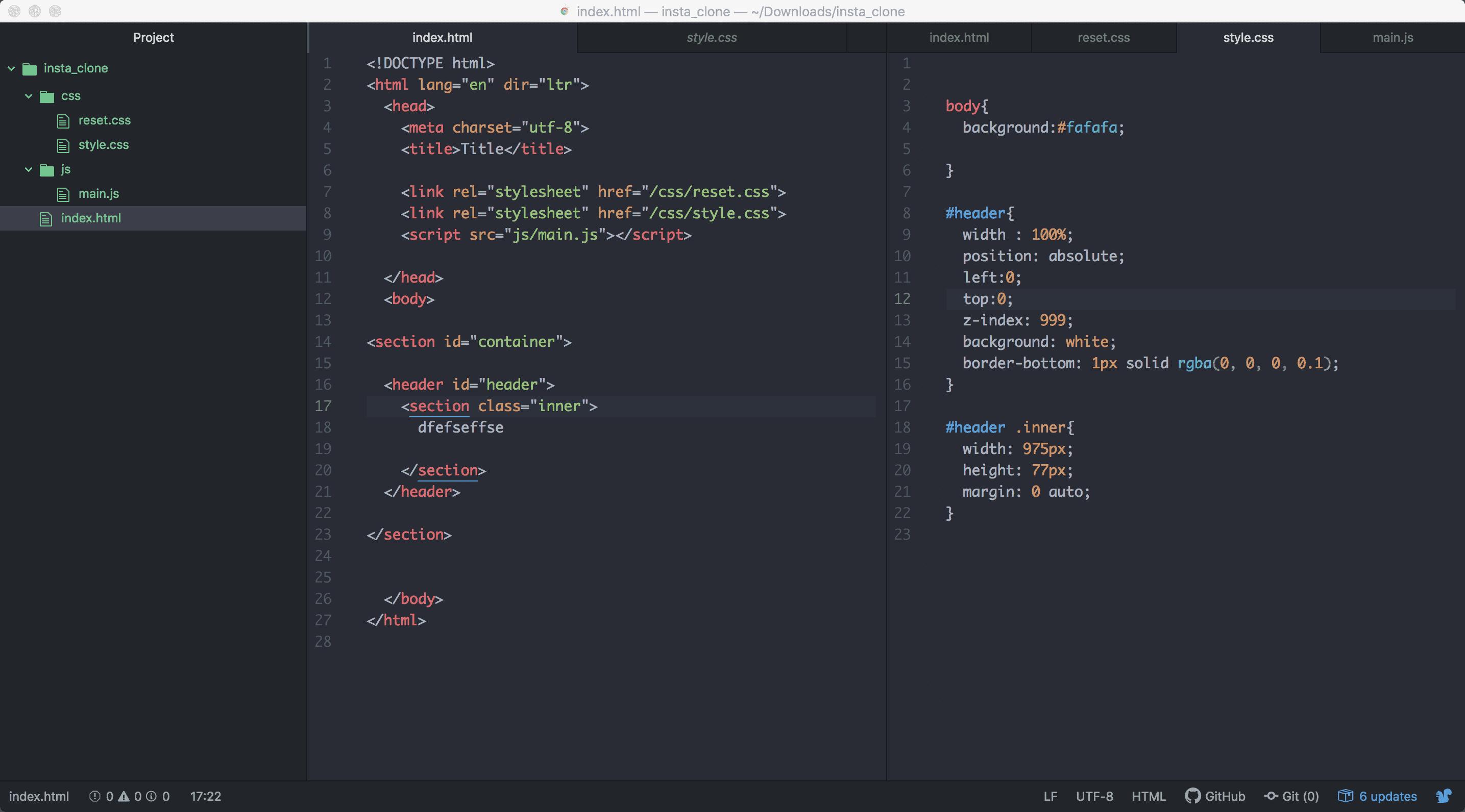 다 제대로 작성했는데 html만 반영이 됩니다.