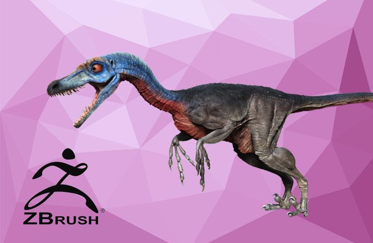 Zbrush 이용한 공룡, 공룡책 제작과정 으로 배우는 3D 모델링 배우기